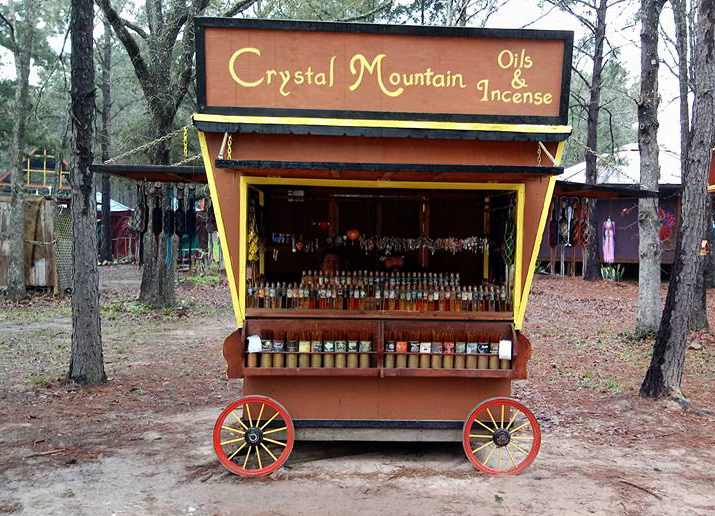 Crystal Mountain at the Sherwood Forest Faire in McDade, Texas