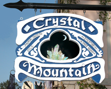 Crystal Mountain sign at the Texas Renaissance Festival